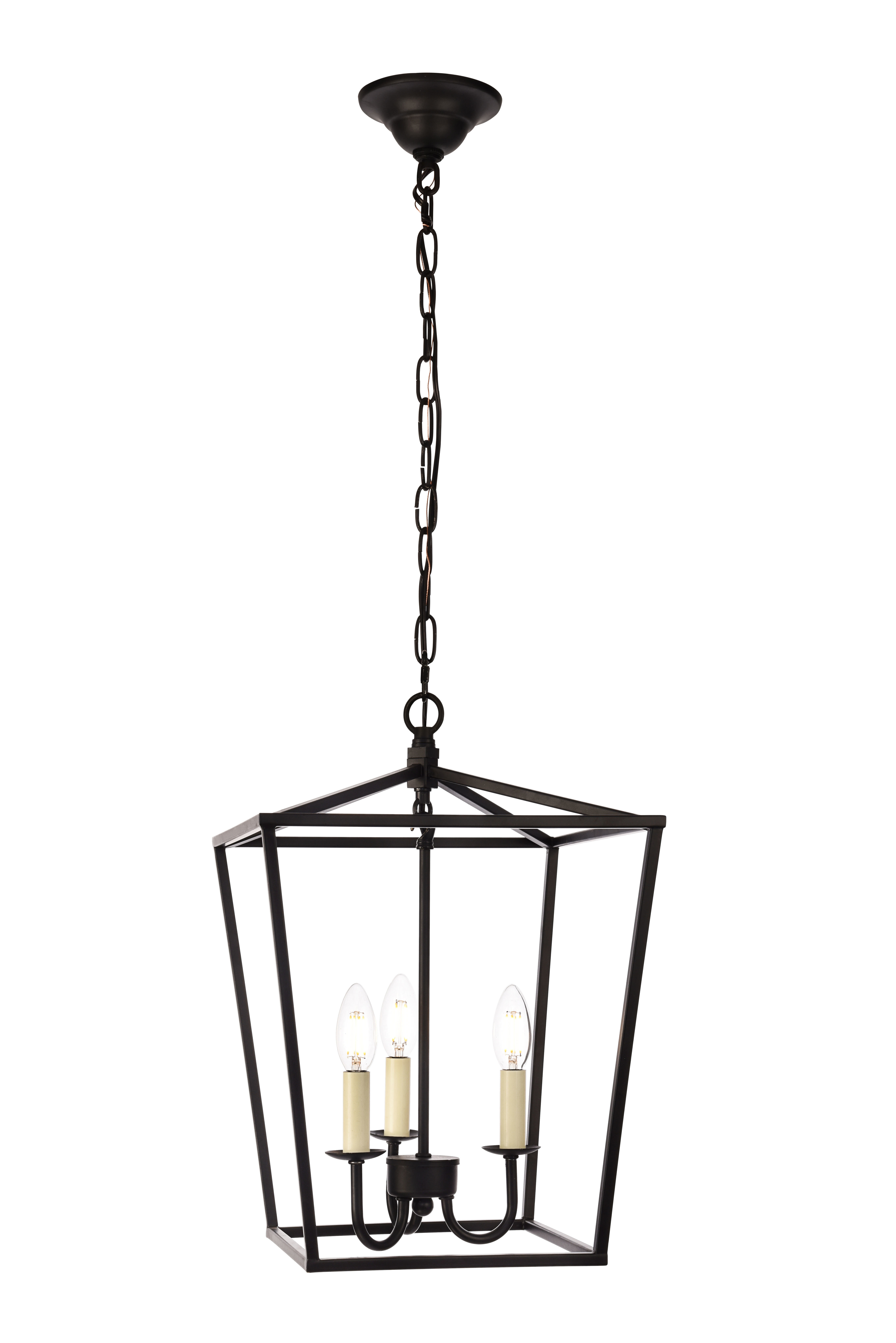 Newest Finnick 3 Light Lantern Pendant Intended For Destrey 3 Light Lantern Square/rectangle Pendants (Gallery 14 of 20)