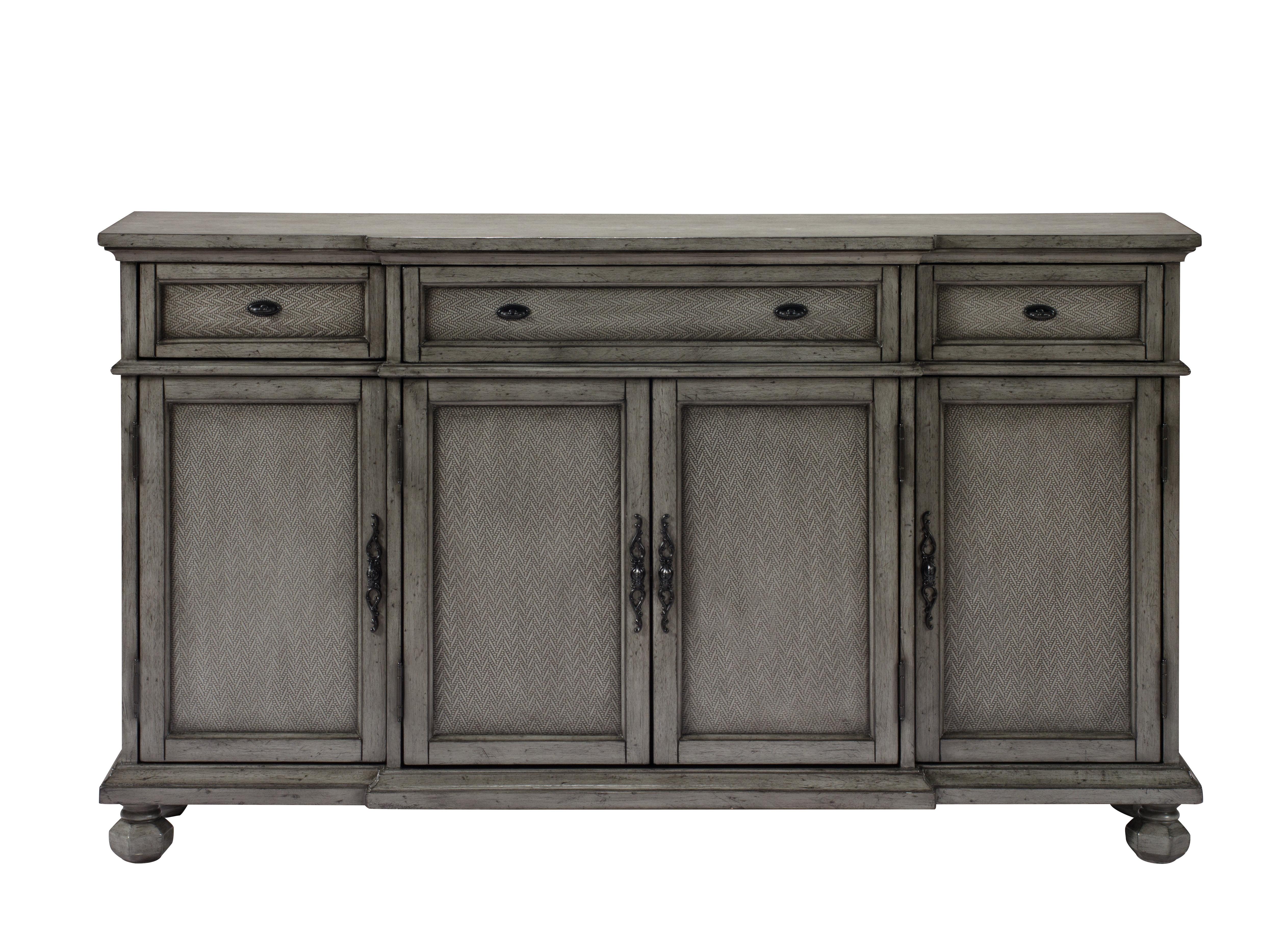 Newest Giulia 3 Drawer Credenza Regarding Ilyan Traditional Wood Sideboards (Gallery 3 of 20)