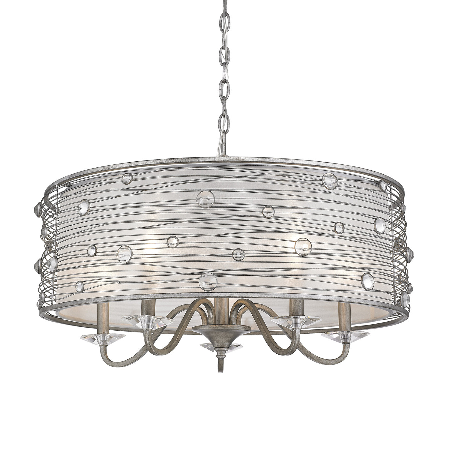 Newest Hermione 5 Light Drum Chandelier Pertaining To Hermione 1 Light Single Drum Pendants (View 16 of 20)