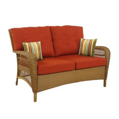 Newest Martha Stewart Living – Charlottetown Natural Loveseat With With Regard To Alburg Loveseats With Cushions (View 14 of 20)