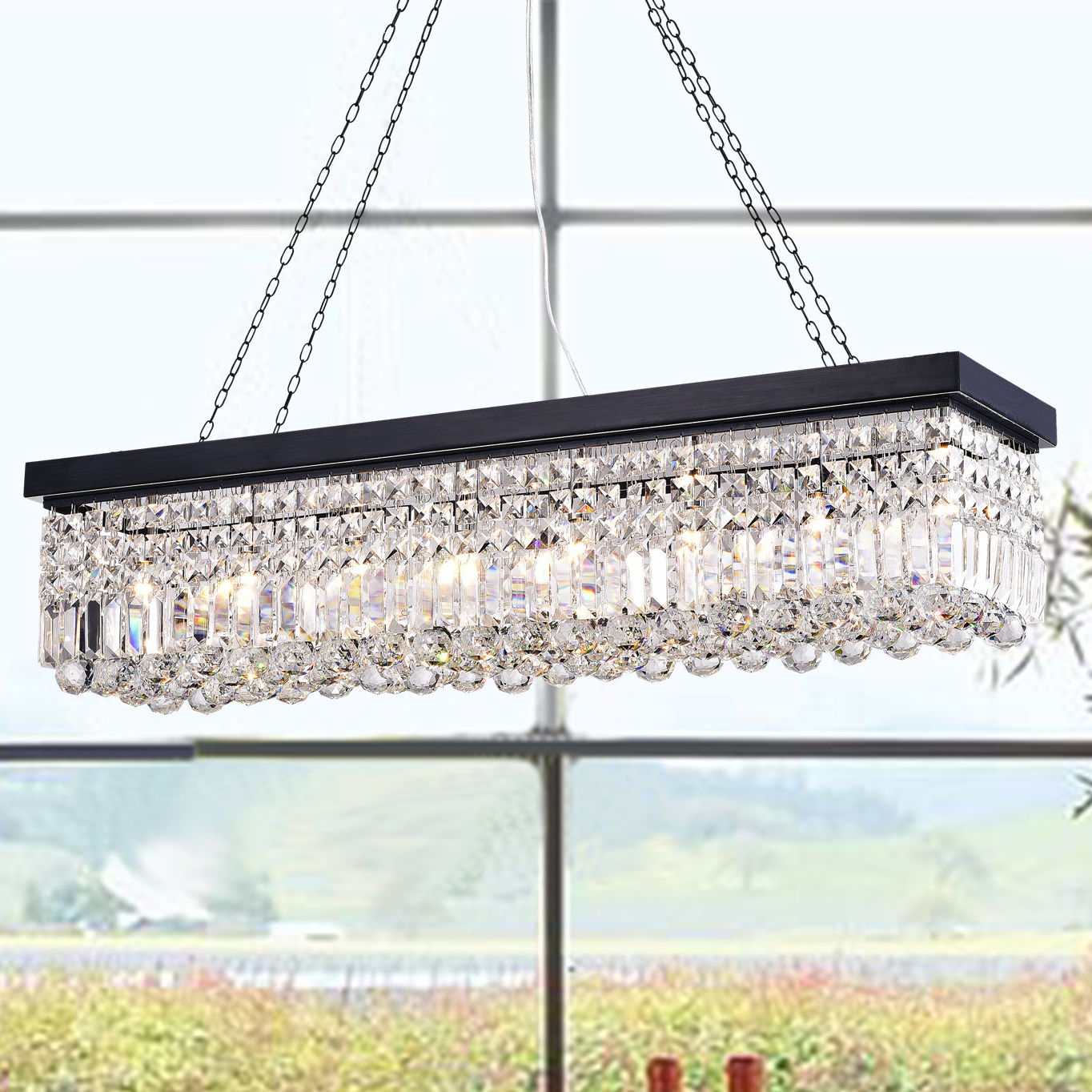 Newest Neal 5 Light Kitchen Island Teardrop Pendants With Gracelyn 8 Light Kitchen Island Pendant (View 15 of 20)