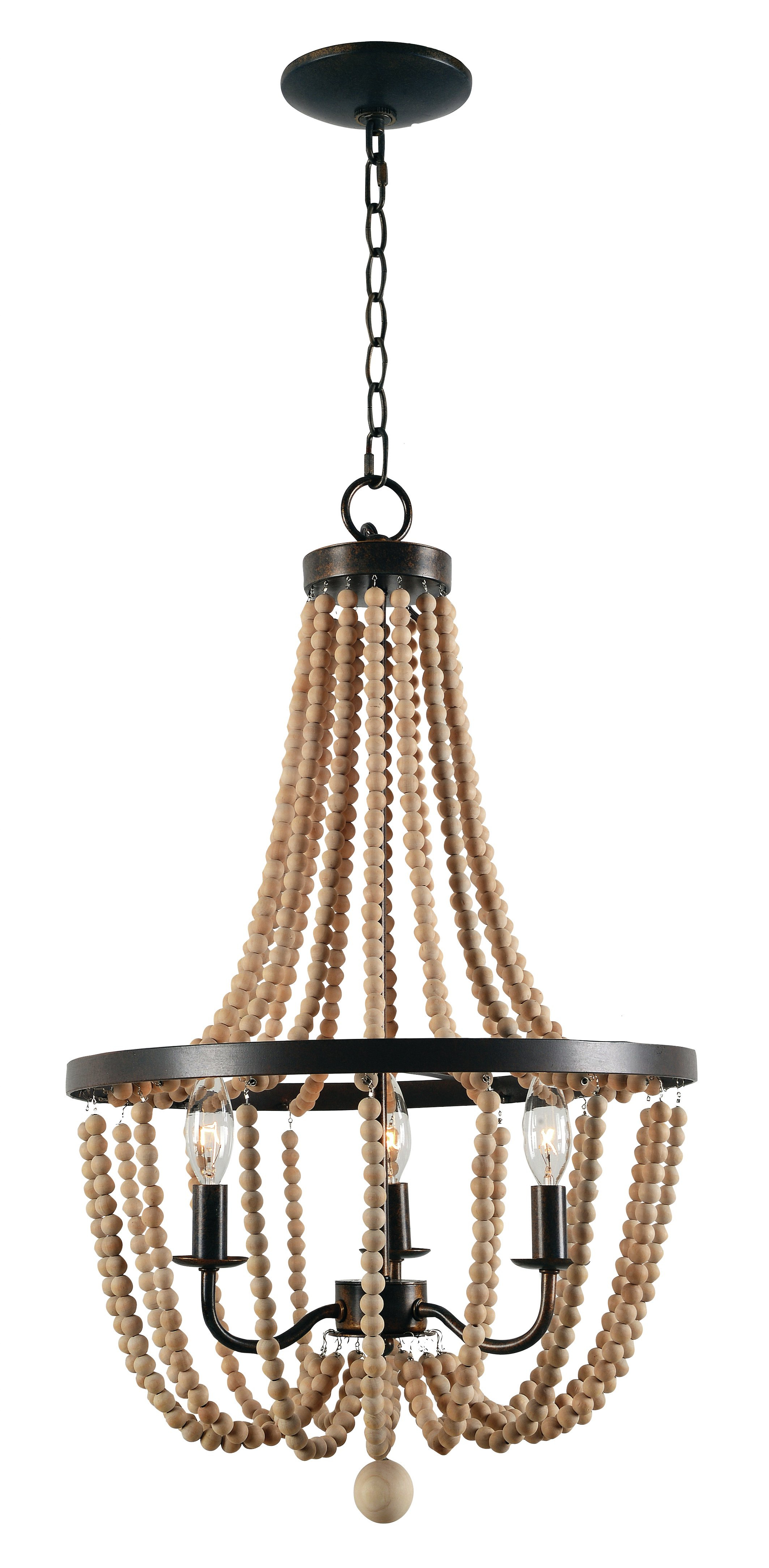 Newest Nehemiah 3 Light Empire Chandeliers Pertaining To Nehemiah 3 Light Empire Chandelier (Gallery 1 of 20)