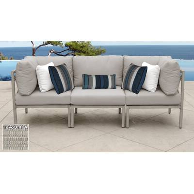 Newest Olu Bamboo Large Round Patio Daybeds With Cushions In Olu Bamboo Large Round Patio Daybed With Cushions & Reviews (Gallery 10 of 20)