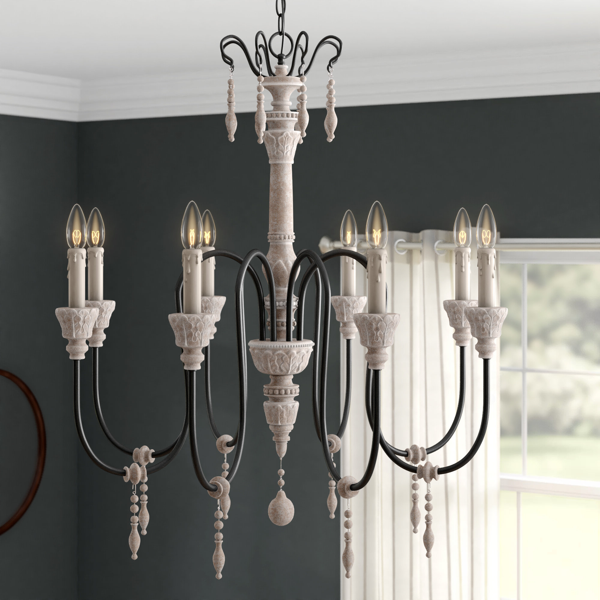 Newest Oriana 4 Light Single Geometric Chandeliers With Ailsa 8 Light Candle Style Chandelier (Gallery 17 of 20)