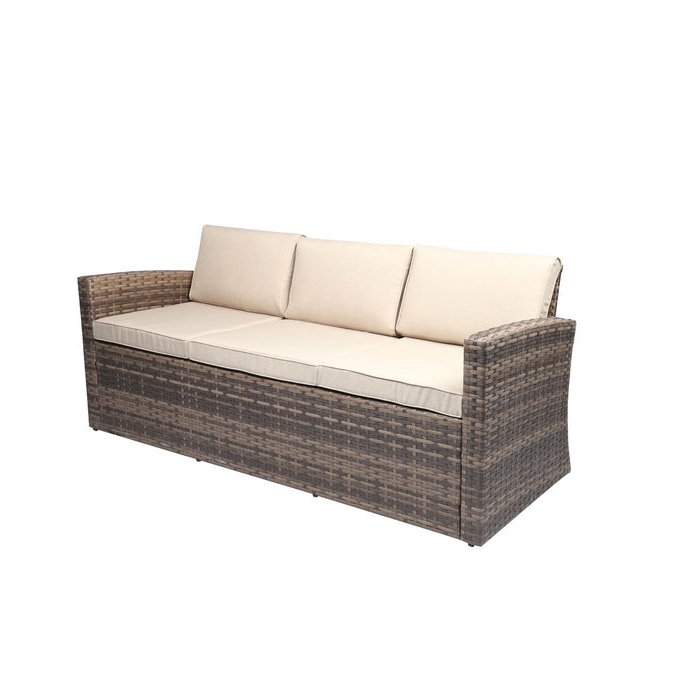 Newest Silloth Patio Sofas With Cushions Within Silloth Outdoor Pool Garden Patio Sofa With Cushions (View 7 of 20)
