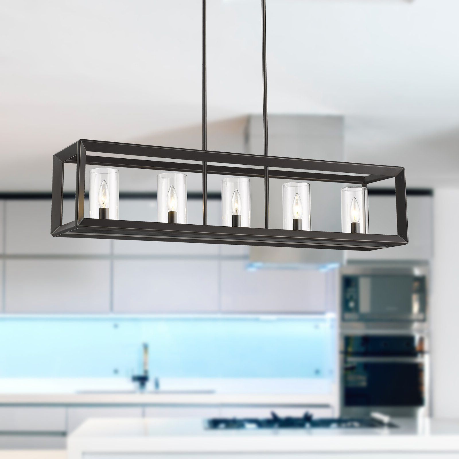 Newest Thorne 5 Light Kitchen Island Pendants Intended For Beldi St (View 11 of 20)