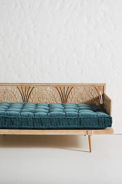 Newest Velvet Daybed Cushion Intended For Keiran Daybeds With Cushions (Gallery 14 of 20)