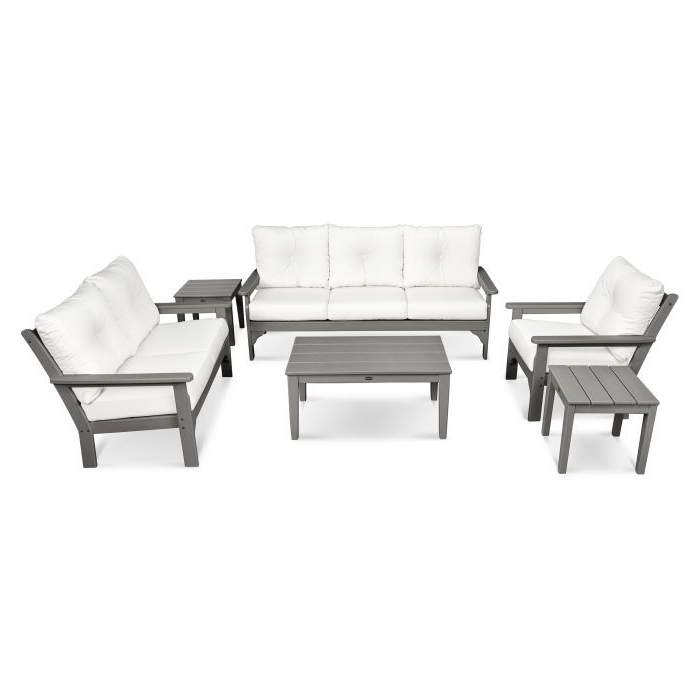 Newest Vineyard 6 Piece Deep Seating Set In (View 6 of 20)