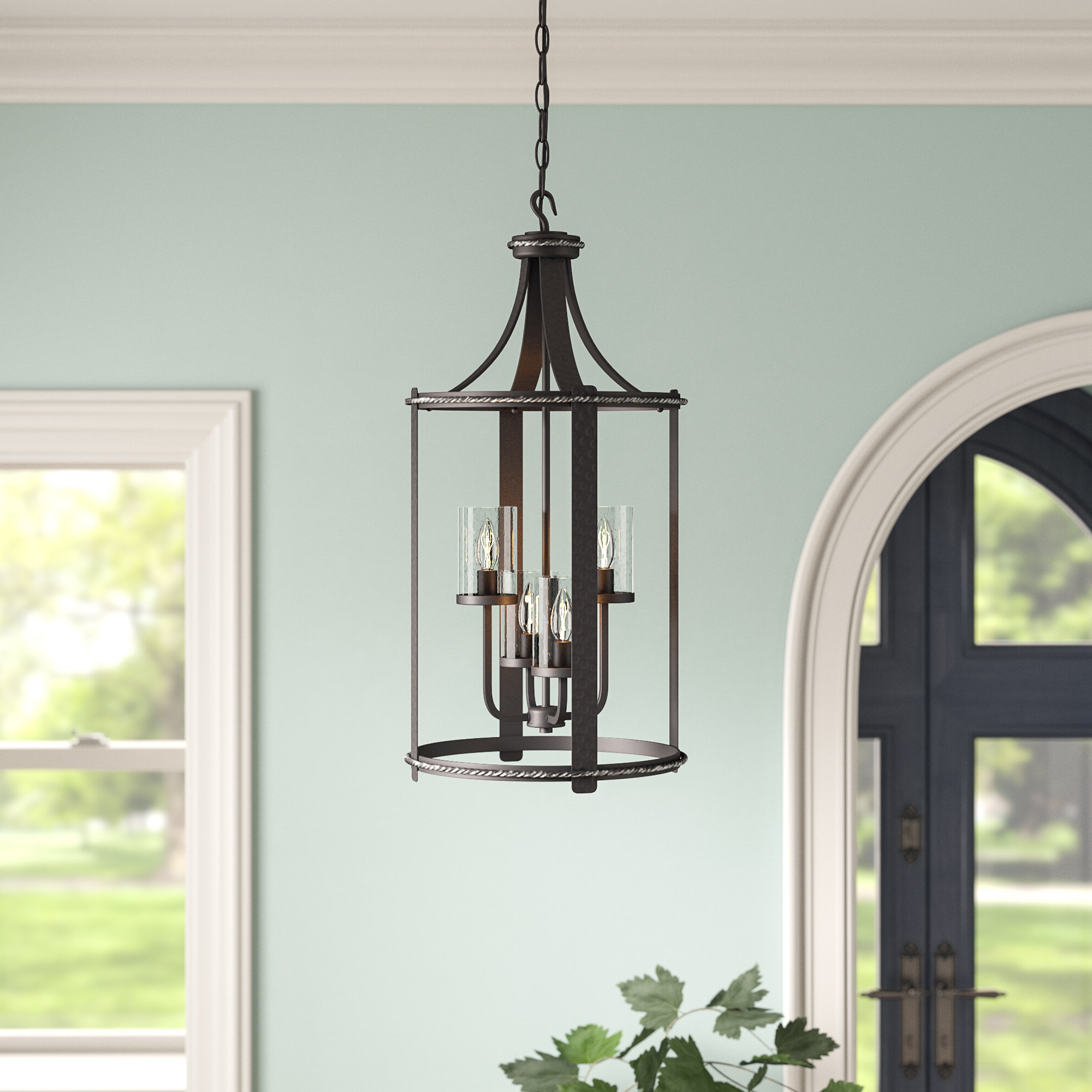 Newest Warner Robins 3 Light Lantern Pendants Inside Halcott 4 Light Lantern Pendant (View 12 of 20)