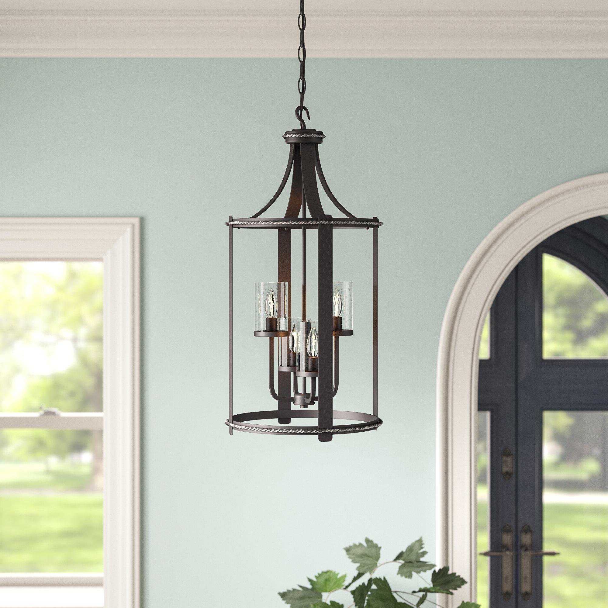 Newest Warner Robins 3 Light Lantern Pendants Inside Halcott 4 Light Lantern Pendant (View 12 of 20)