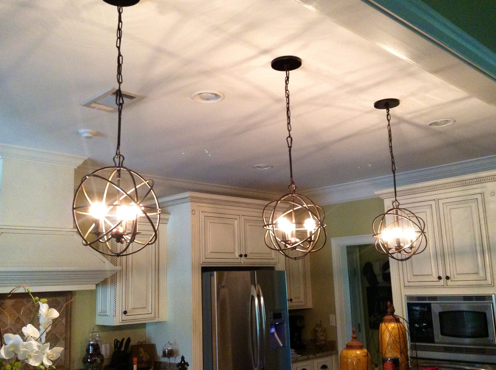 Newest Warner Robins 3 Light Lantern Pendants Within Image Result For Kitchen Island Mini Pendant Lights (Gallery 14 of 20)