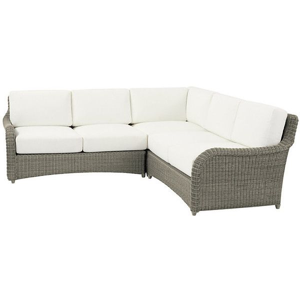 Newest Wrobel Patio Sectionals With Cushion Intended For Ballard Designs Suzanne Kasler Versailles 3 Piece Sectional (View 18 of 20)