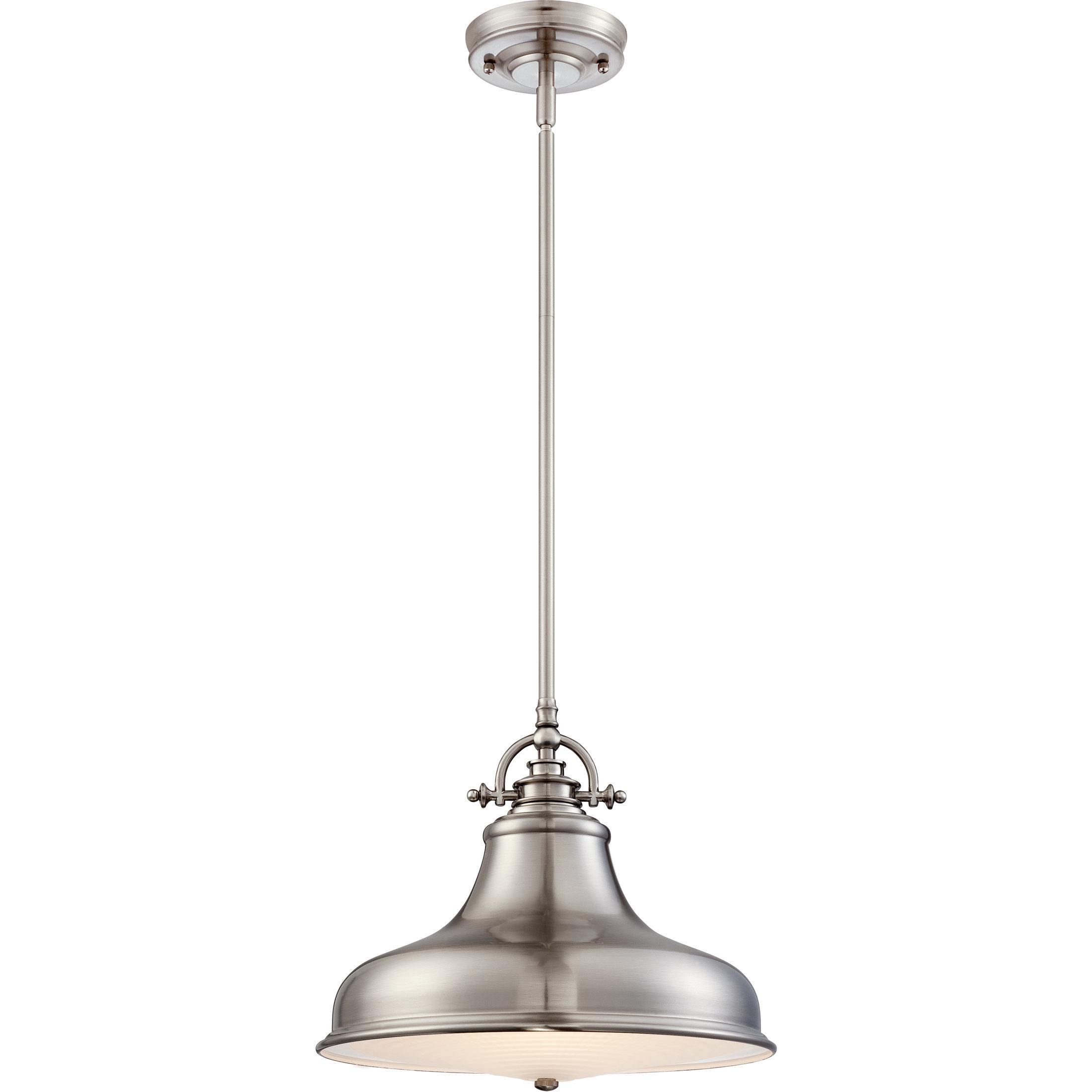 Ninette 1 Light Dome Pendants Pertaining To 2020 Mueller 1 Light Single Dome Pendant (Gallery 19 of 20)