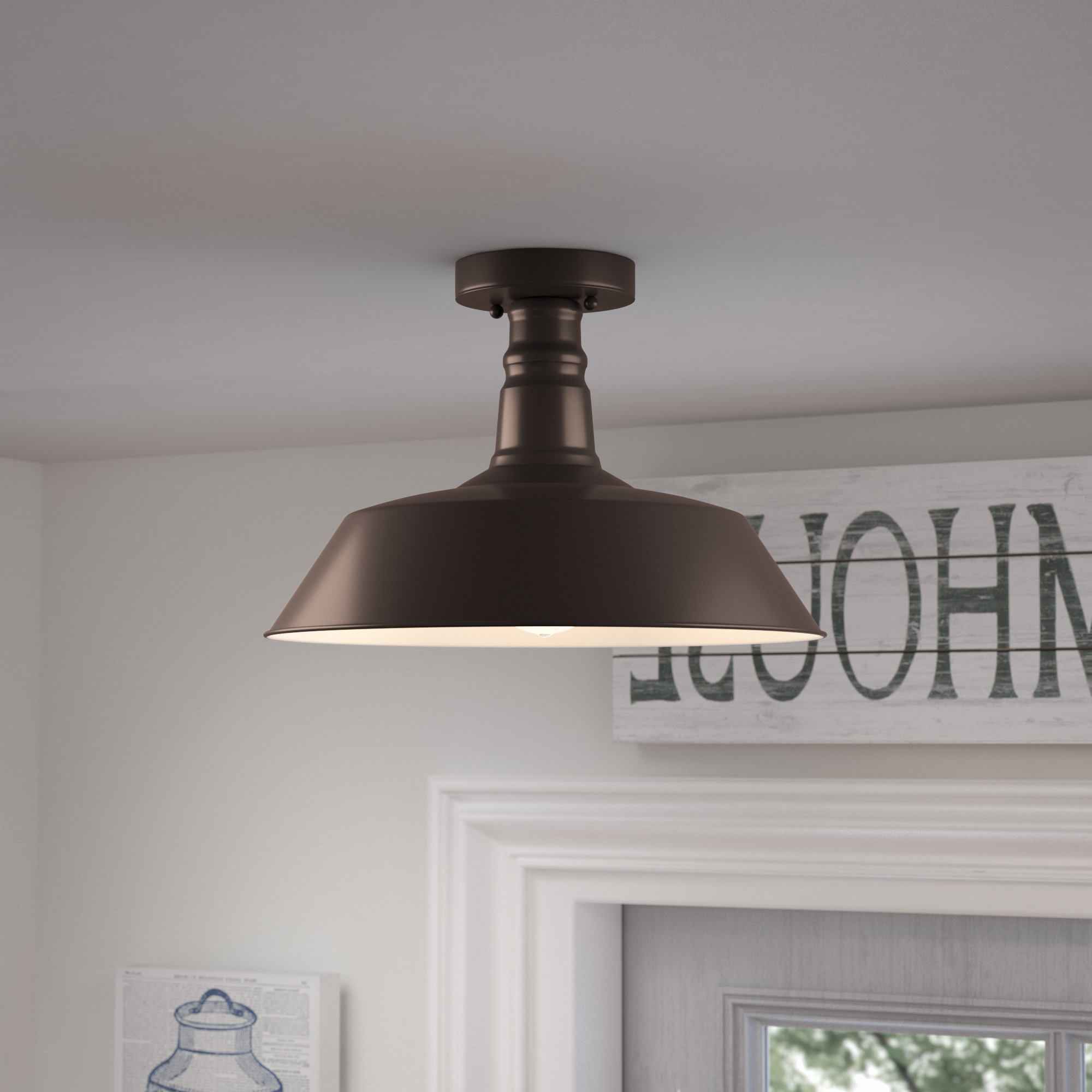 Ninette 1 Light Dome Pendants Within Most Up To Date Birch Lane™ Heritage Ninette 1 Light Dome Pendant & Reviews (Gallery 4 of 20)
