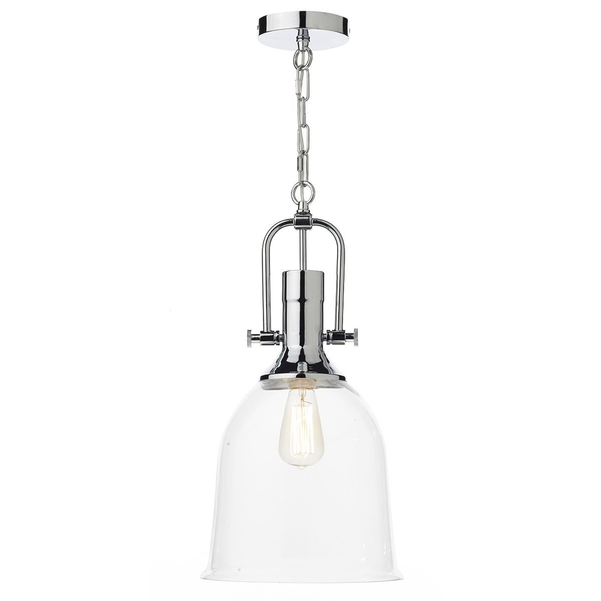 Nolan 1 Light Lantern Chandeliers Within Well Known Dar Nolan 1 Light Pendant Polished Chrome (View 18 of 20)