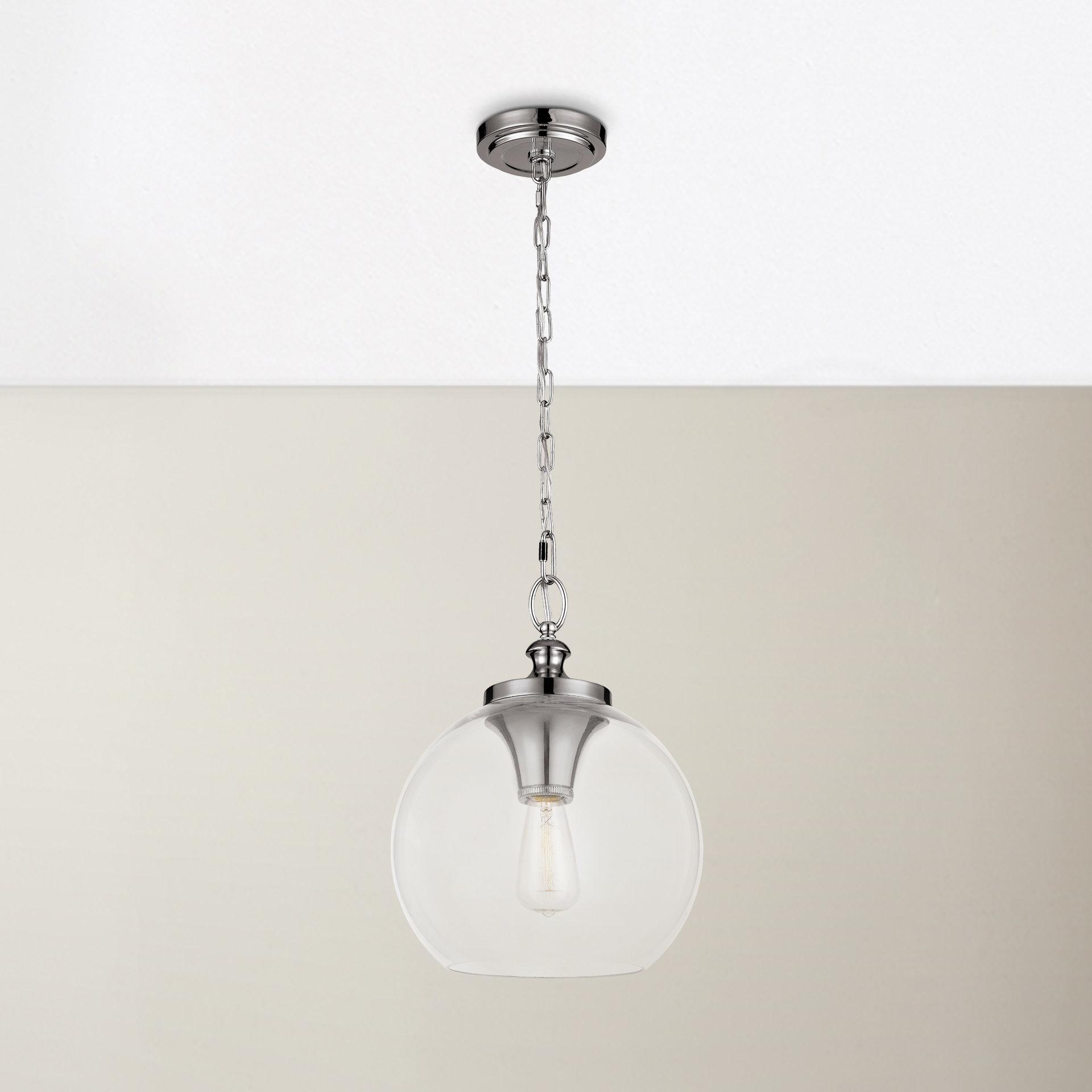 Nolan 1 Light Single Cylinder Pendants In Well Liked Asellus 1 Light Single Globe Pendant (Gallery 15 of 20)