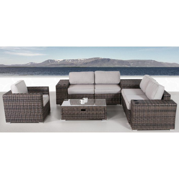 Nolen 8 Piece Rattan Sectional Set With Cushions (View 10 of 20)