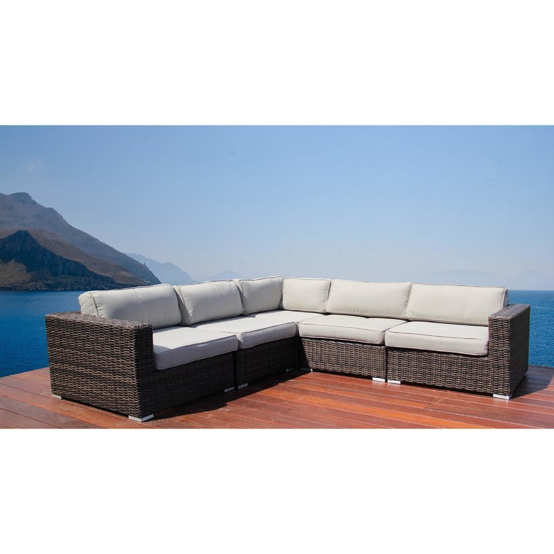 Nolen Patio Sectional With Cushions Inside Recent Larsen Patio Sectionals With Cushions (View 13 of 20)