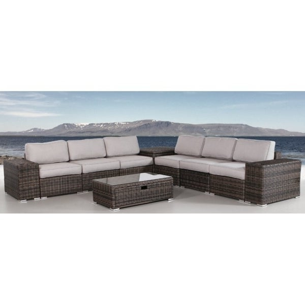 Nolen Patio Sectionals With Cushions In Favorite Shop 10 Piece Sectional Set With Cushions – Free Shipping (Gallery 13 of 20)