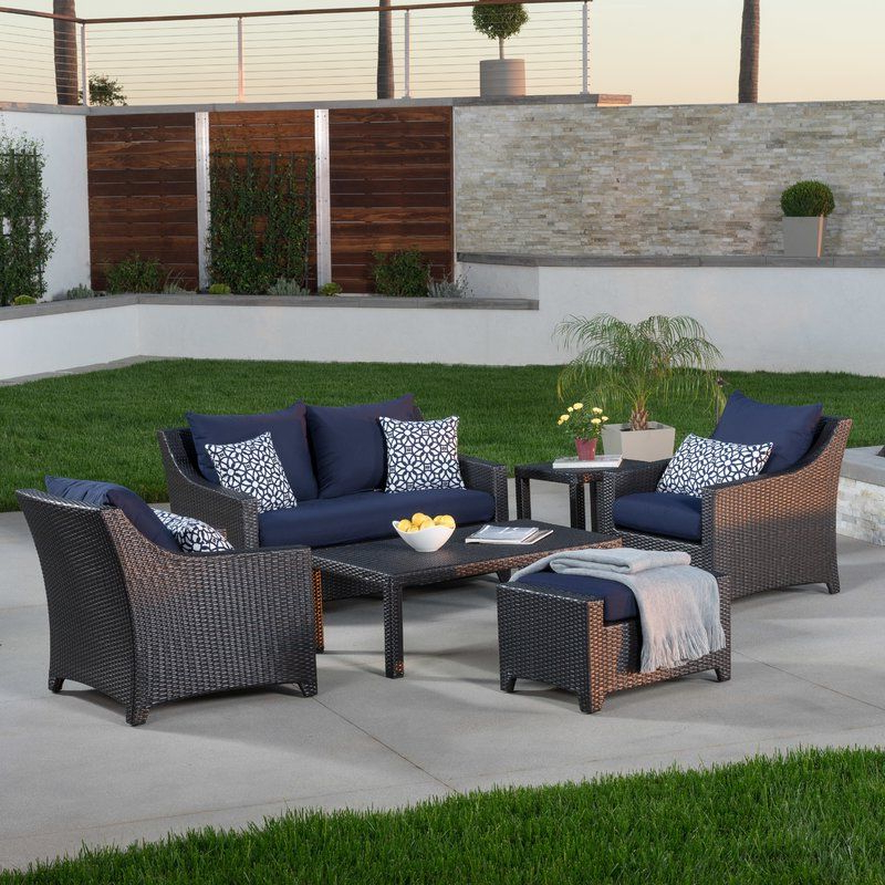 Northridge 6 Piece Rattan Sunbrella Sofa Set With Cushions Throughout Recent Northridge Patio Sofas With Sunbrella Cushions (Gallery 11 of 20)
