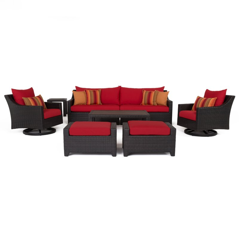 Northridge Patio Sofas With Sunbrella Cushions In Latest Northridge 8 Piece Sofa Set With Cushions (View 13 of 20)