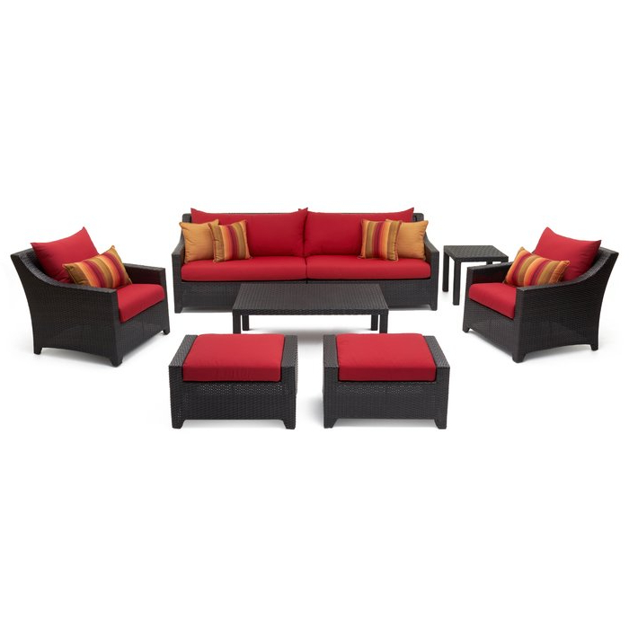Northridge Patio Sofas With Sunbrella Cushions With Most Up To Date Northridge 8 Piece Sofa Seating Group With Sunbrella Cushions (Gallery 16 of 20)