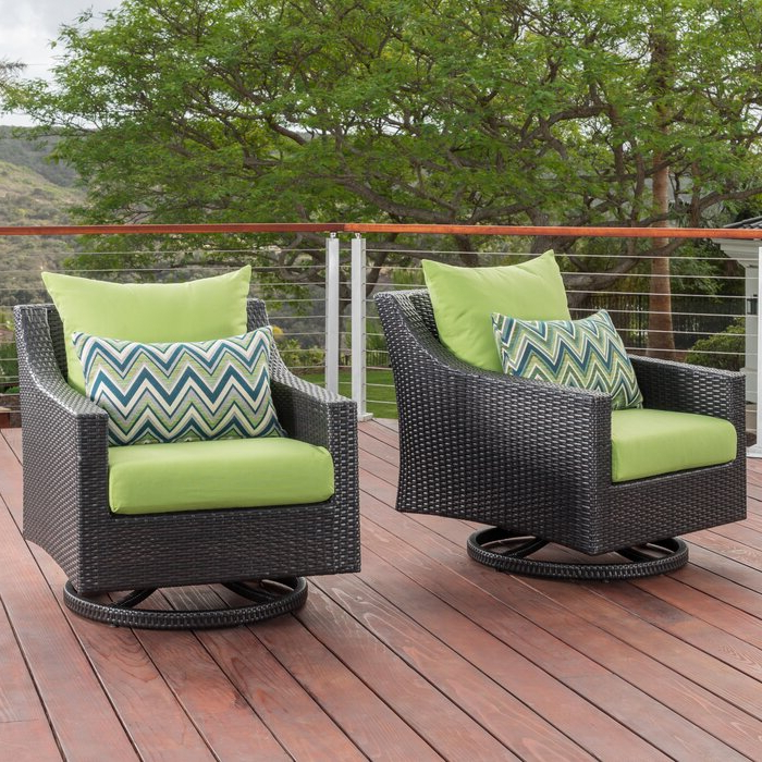 Northridge Swivel 2 Piece Patio Chair With Cushions Inside Popular Northridge Patio Sofas With Sunbrella Cushions (Gallery 9 of 20)