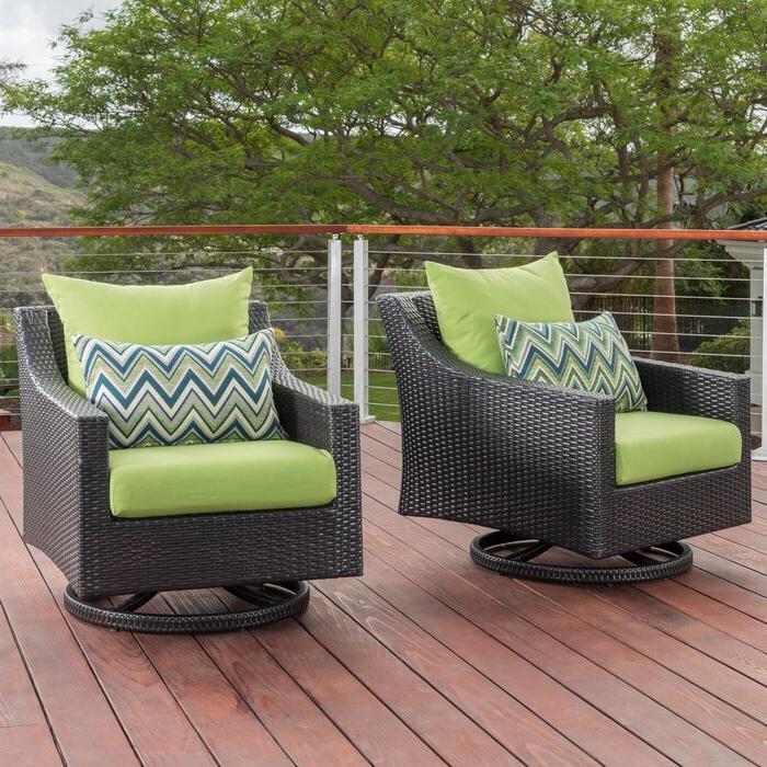 Northridge Swivel 2 Piece Patio Chair With Cushions Inside Popular Northridge Patio Sofas With Sunbrella Cushions (Gallery 9 of 20)