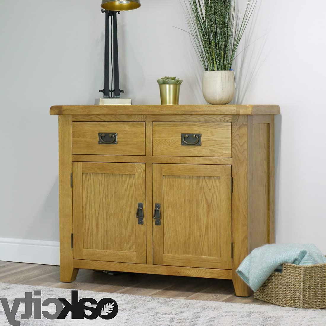 Norton Sideboards Intended For Most Popular Arklow Oak Small Sideboard / Fully Assembled 2 Door 2 Drawer Dining Room Storage (View 13 of 20)