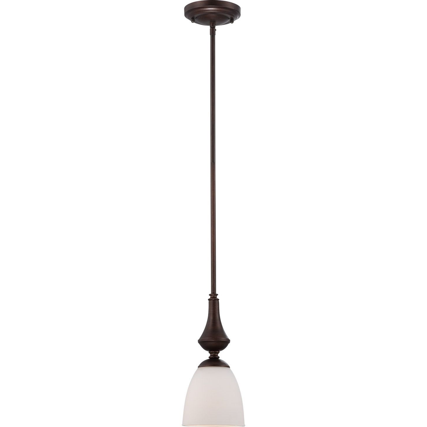 Nuvo Patton 1 Light Prairie Bronze Mini Pendant In 2019 Throughout Most Current Grullon Scroll 1 Light Single Bell Pendants (View 15 of 20)