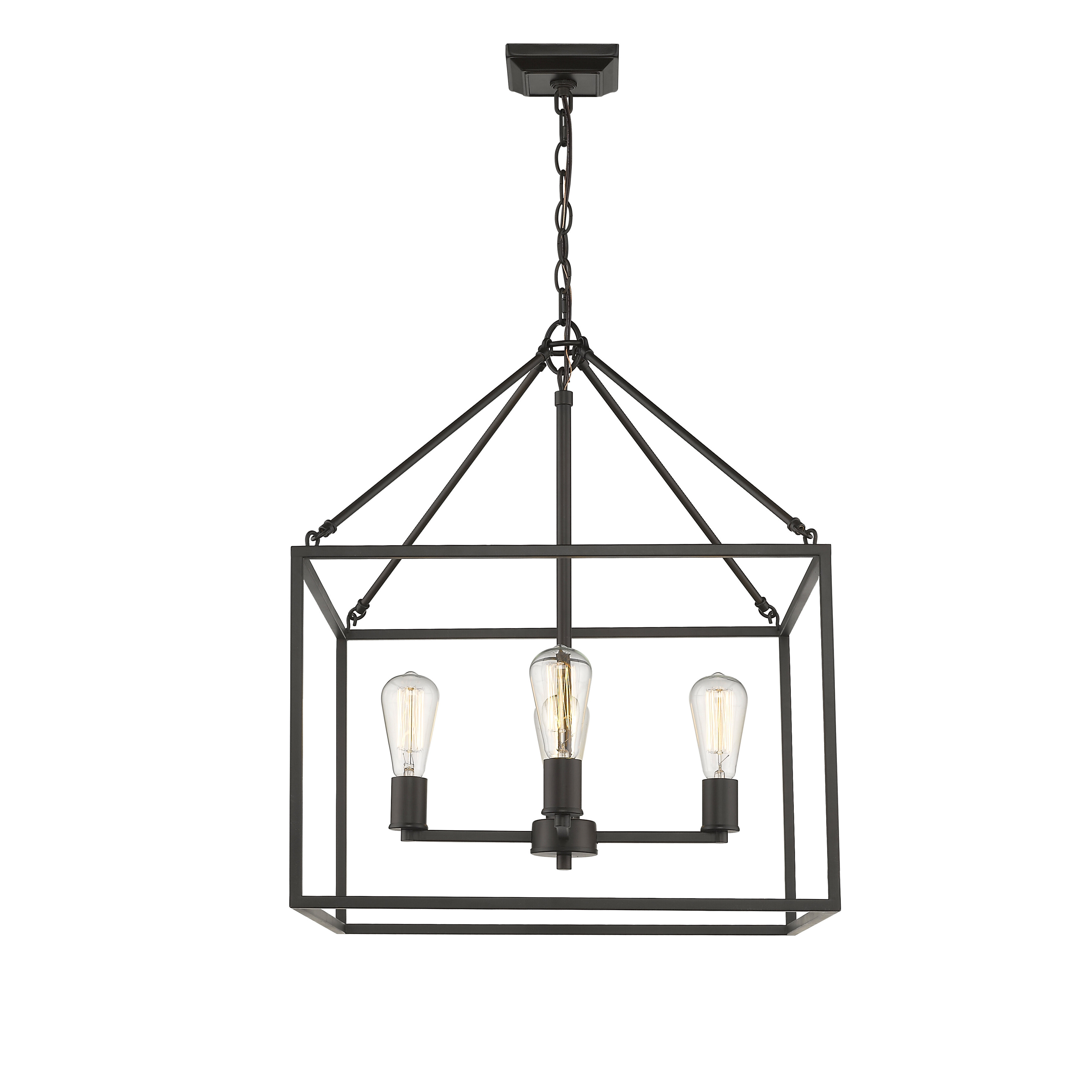 Odie 4 Light Lantern Square Pendants Throughout Most Recent Zabel 4 Light Lantern Square / Rectangle Pendant (View 7 of 20)