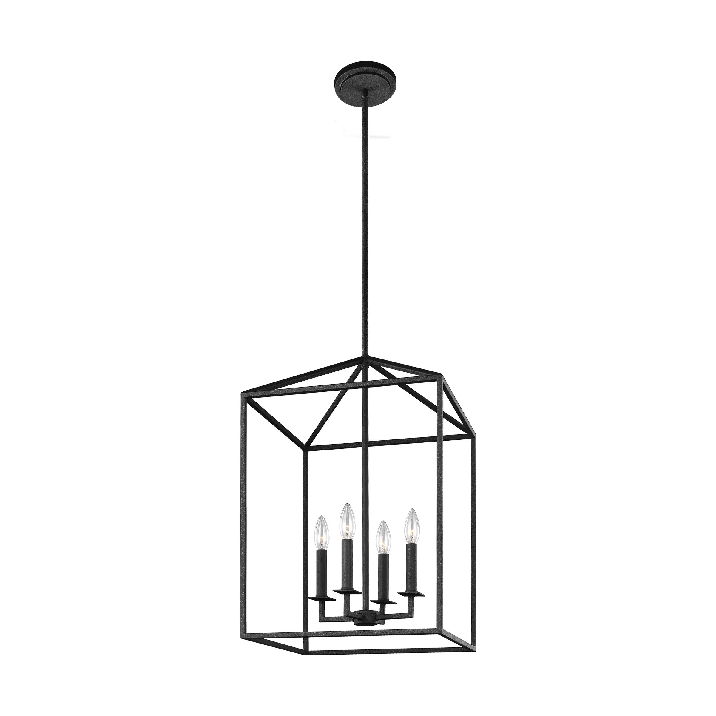 Odie 4 Light Lantern Square/rectangle Pendant In Well Liked Thorne 4 Light Lantern Rectangle Pendants (View 5 of 20)