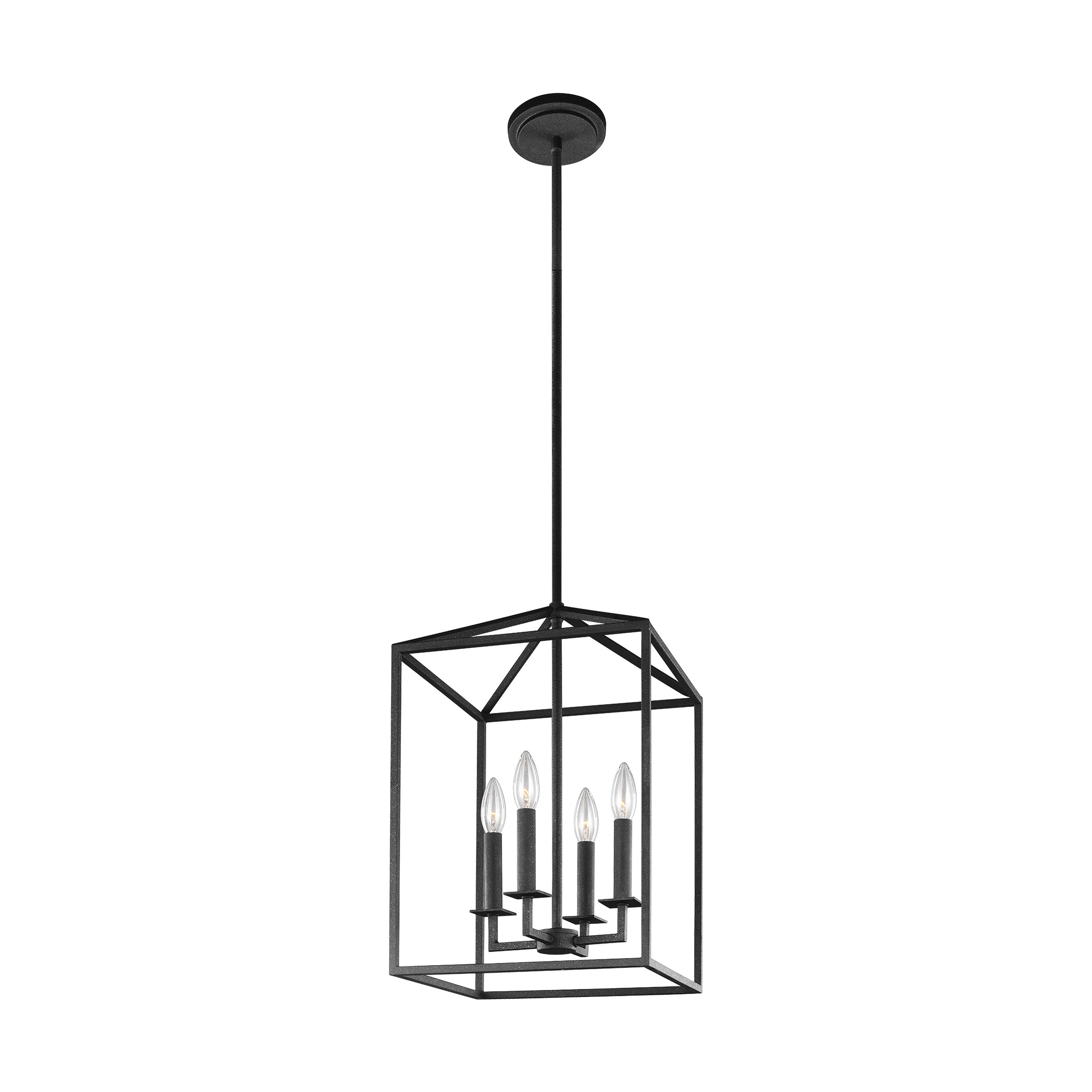 Odie 4 Light Lantern Square / Rectangle Pendant Throughout Well Known 4 Light Lantern Square / Rectangle Pendants (View 16 of 20)