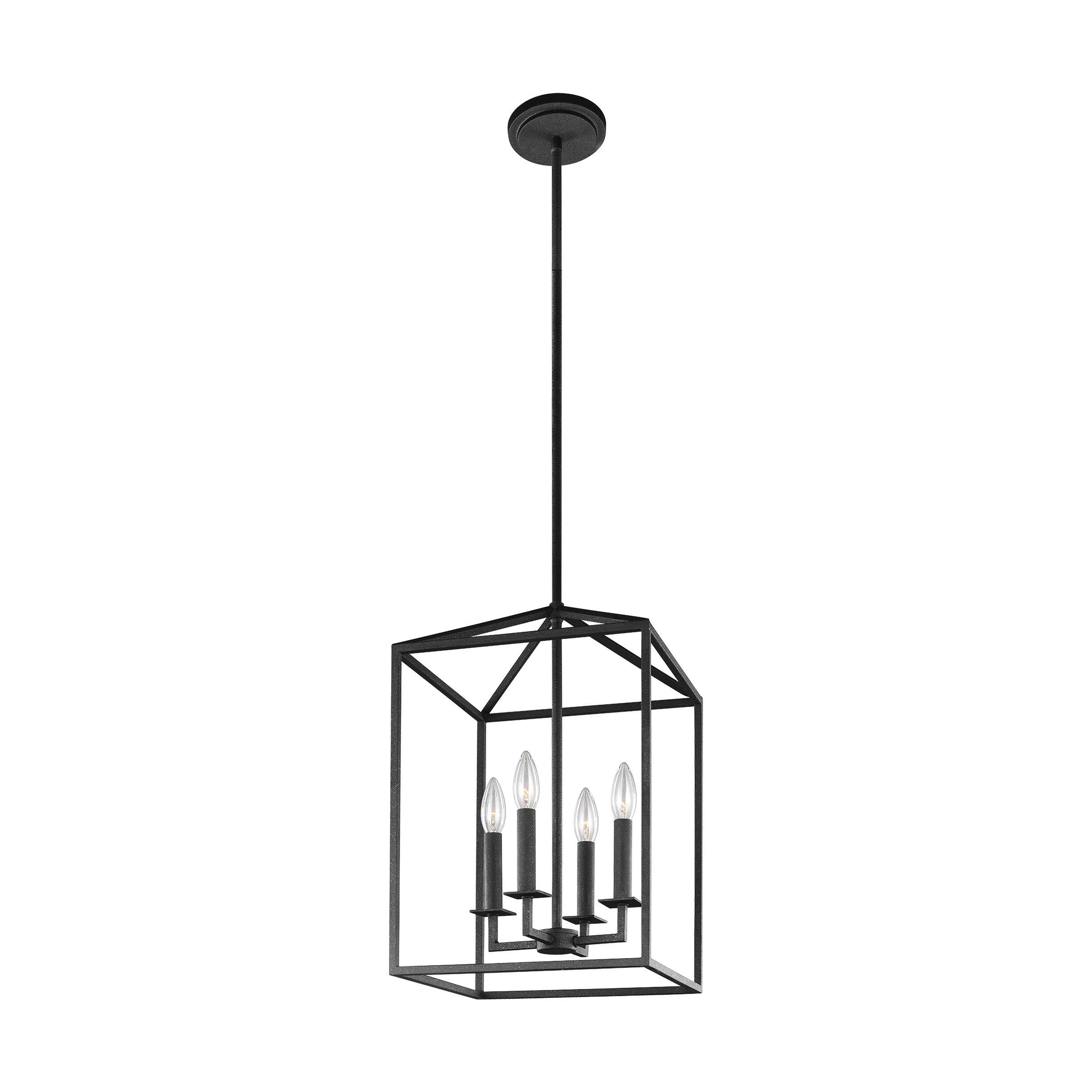 Odie 4 Light Lantern Square / Rectangle Pendant Throughout Well Known 4 Light Lantern Square / Rectangle Pendants (View 16 of 20)
