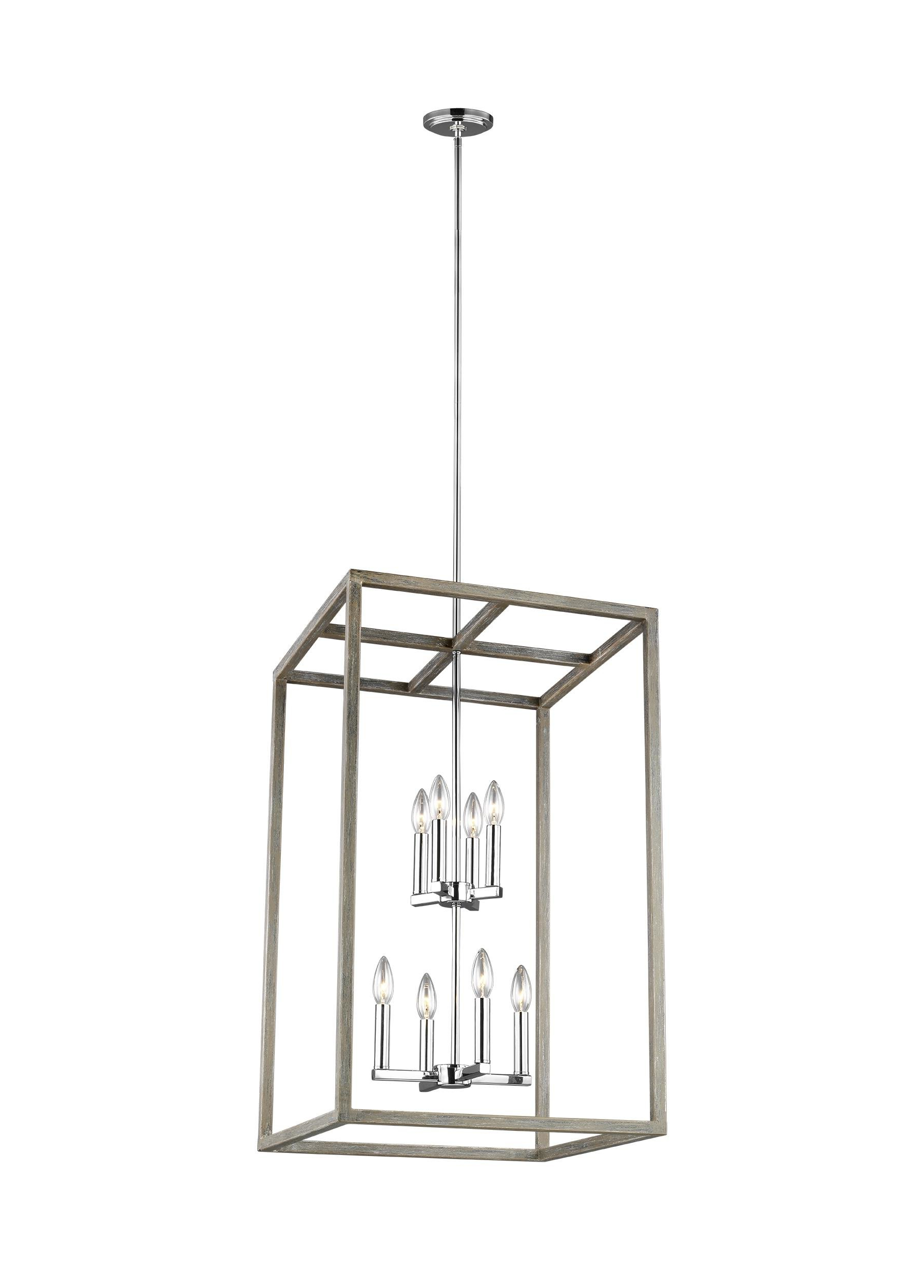 Odie 8 Light Kitchen Island Square / Rectangle Pendants Intended For Most Recent Kaydence 8 Light Single Rectangle Pendant (View 9 of 20)