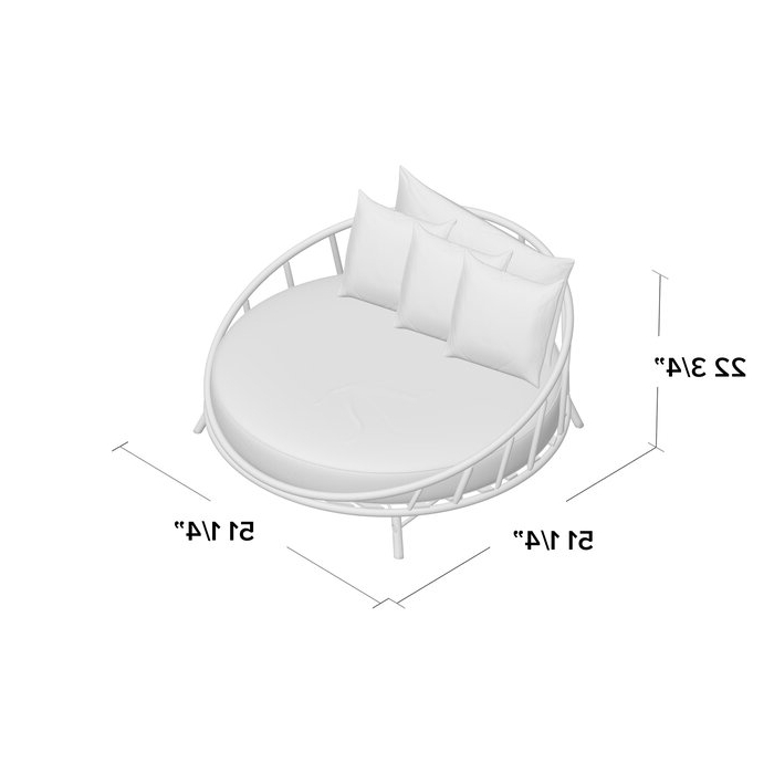 Olu Bamboo Large Round Patio Daybeds With Cushions In 2020 Olu Bamboo Large Round Patio Daybed With Cushions (View 12 of 20)