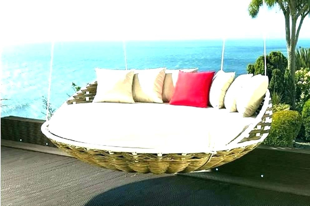 Olu Bamboo Large Round Patio Daybeds With Cushions Inside Favorite Round Patio Daybed – Olinconboy (View 14 of 20)