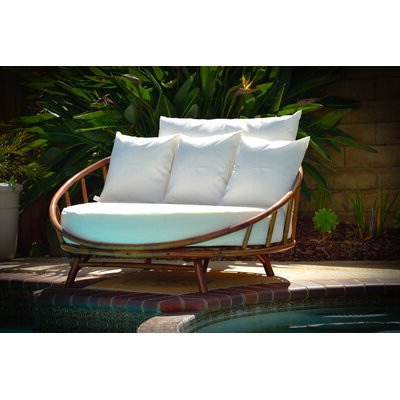 Olu Bamboo Large Round Patio Daybeds With Cushions With Well Liked Olu Bamboo Large Round Patio Daybed With Cushions (View 9 of 20)