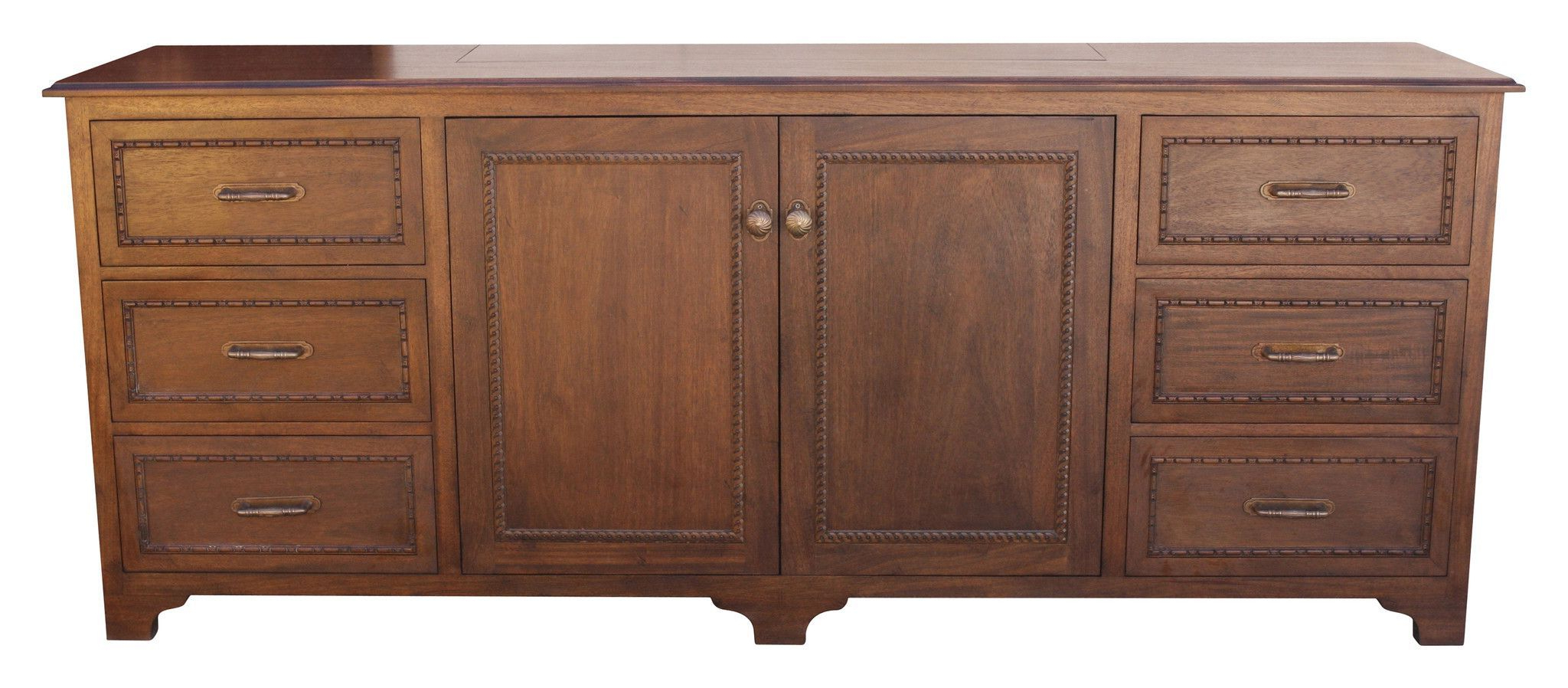One Kings Lane Beulah 3 Door Cabinet – Pecan In 2019 With Current Chaffins Sideboards (Gallery 6 of 20)