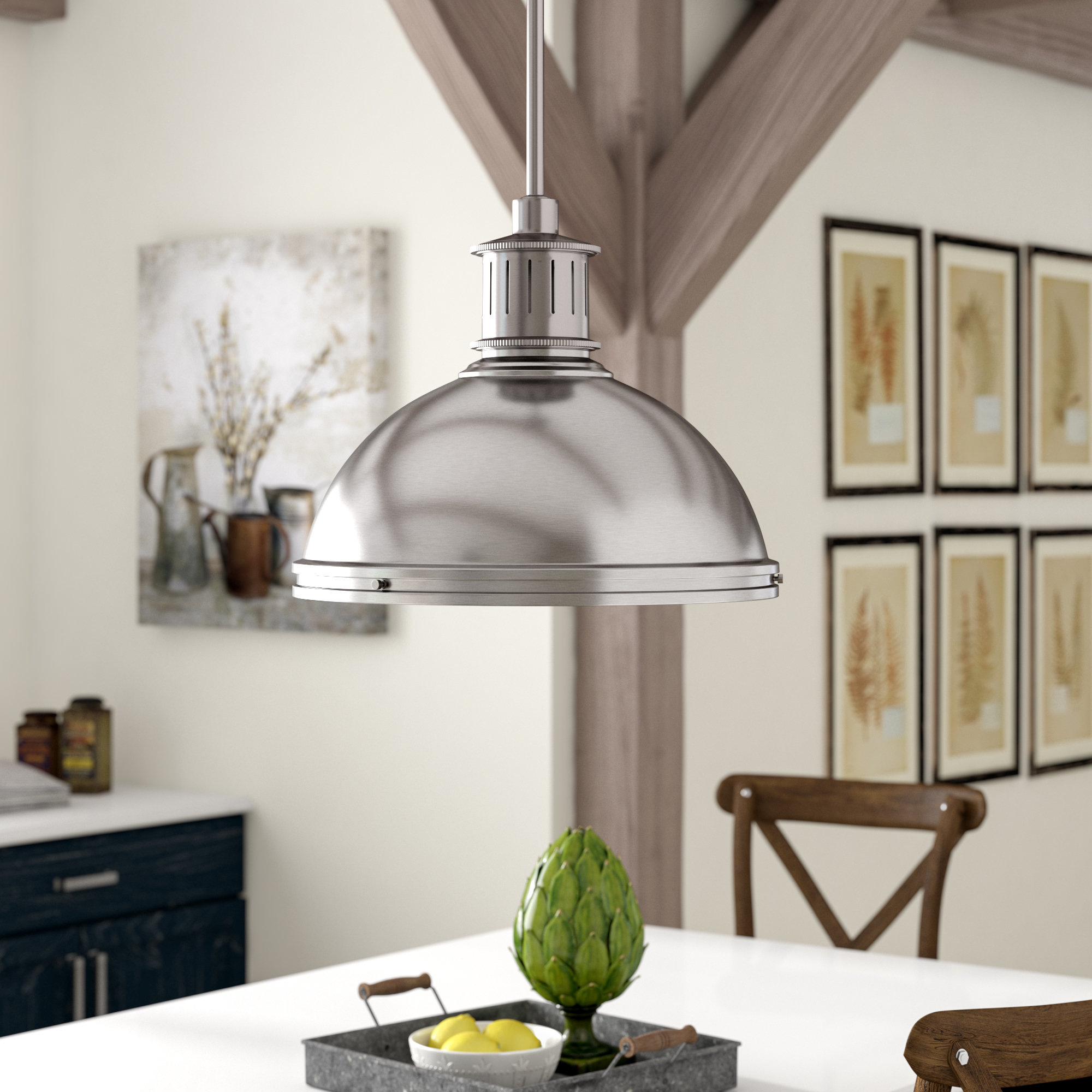 Orchard Hill 1 Light Led Single Dome Pendant Regarding Latest Macon 1 Light Single Dome Pendants (Gallery 20 of 20)