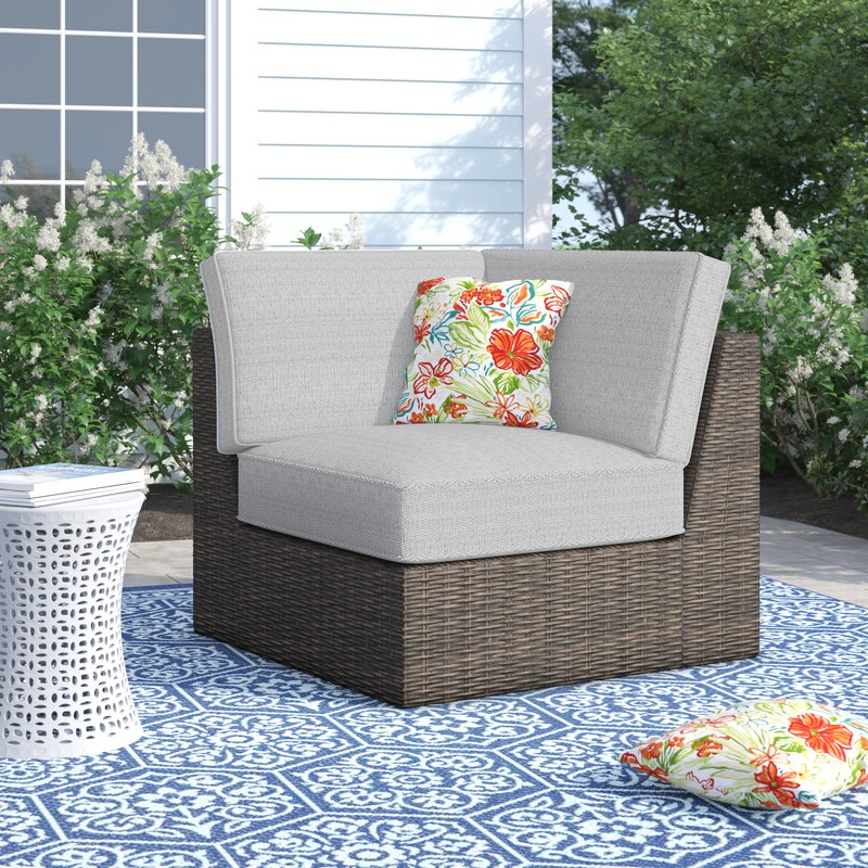 Oreland Patio Chair With Cushions In Famous Oreland Patio Sofas With Cushions (View 9 of 20)