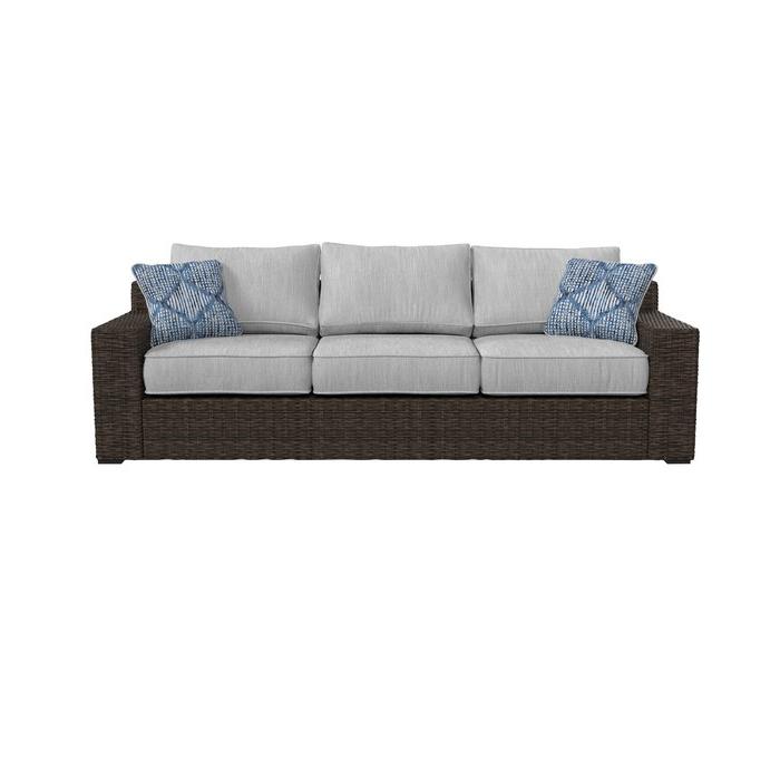 Oreland Patio Sofa With Cushions Regarding Most Current Oreland Patio Sofas With Cushions (View 3 of 20)