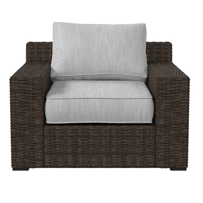 Oreland Patio Sofas With Cushions Within Most Current Oreland Patio Chair With Cushions (Gallery 5 of 20)