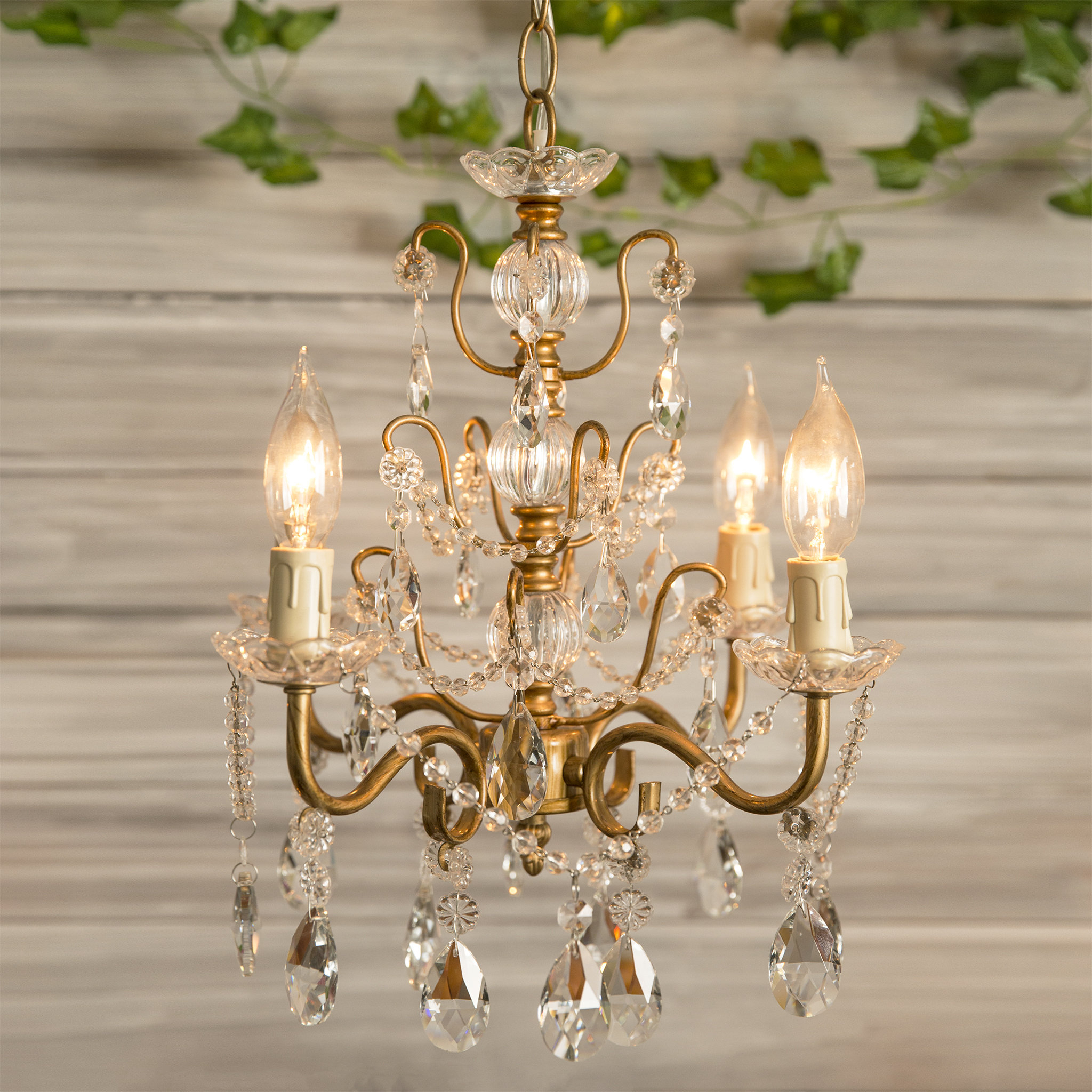 Oriana 4 Light Single Geometric Chandeliers For Fashionable Blanchette 4 Light Candle Style Chandelier (Gallery 20 of 20)