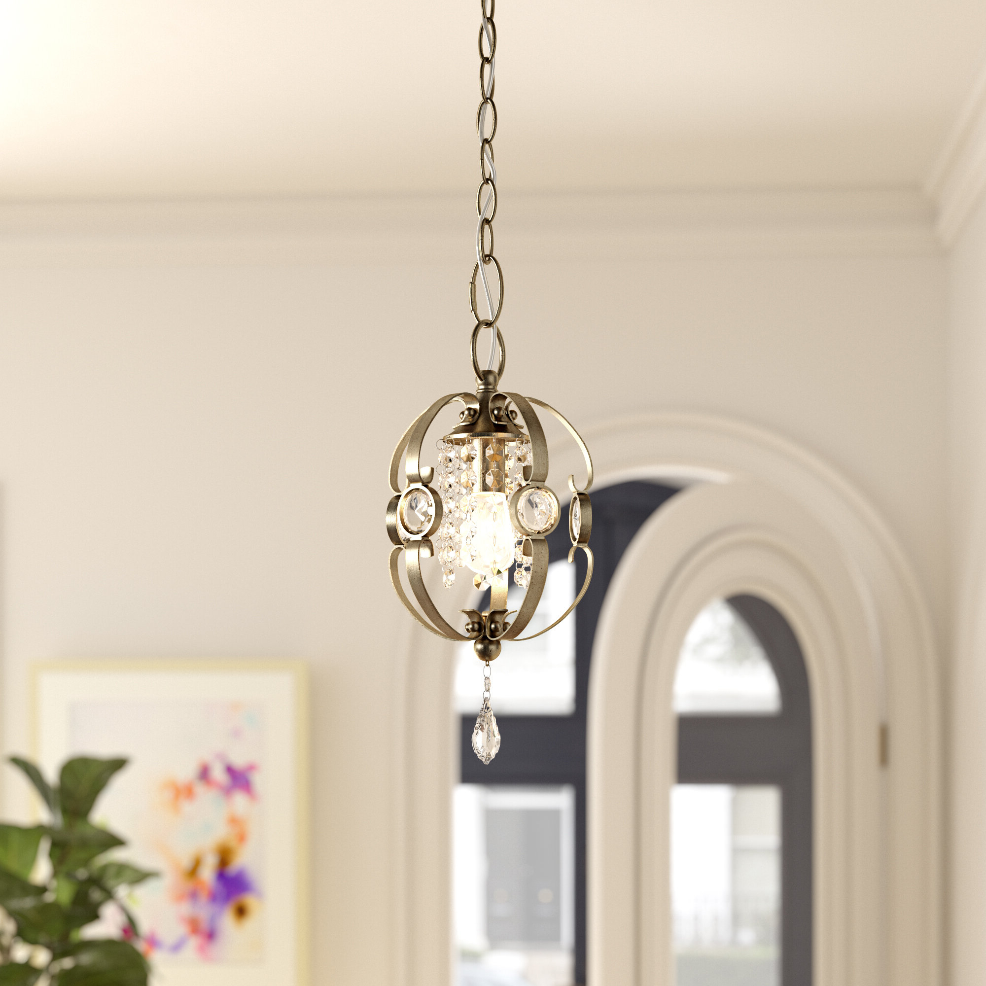 Oriana 4 Light Single Geometric Chandeliers Intended For 2020 Hardouin 1 Light Single Geometric Pendant (Gallery 7 of 20)