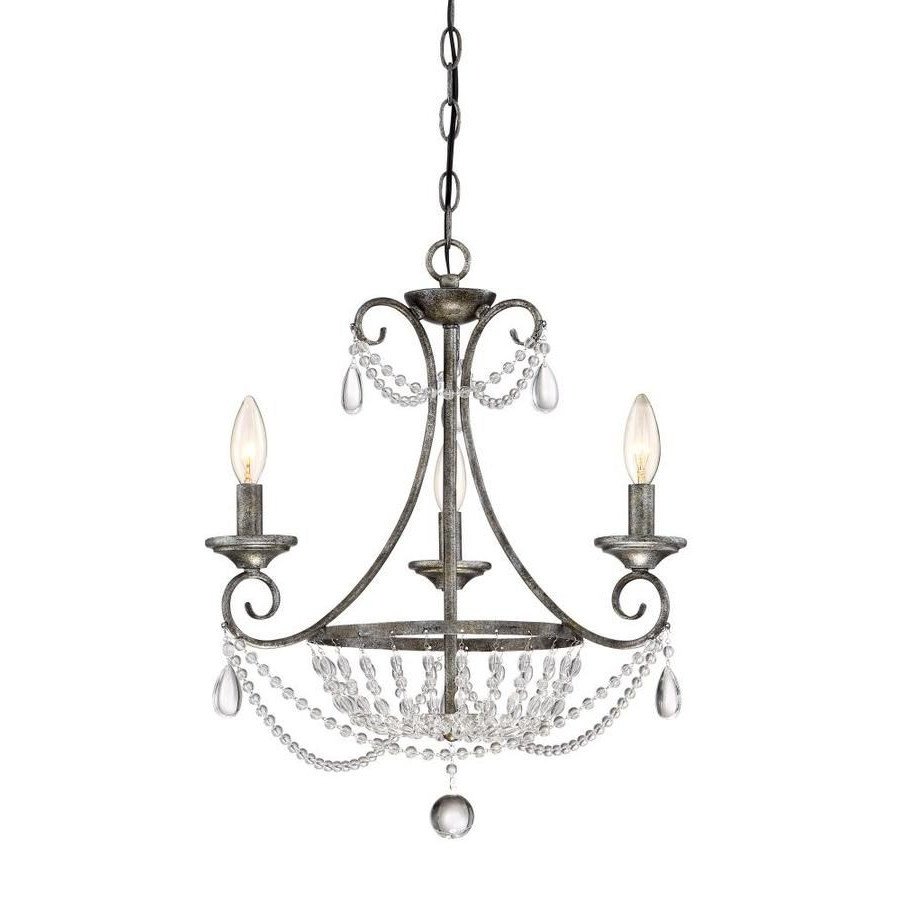 Oriana 4 Light Single Geometric Chandeliers Regarding Best And Newest Quoizel Chantal  (View 17 of 20)