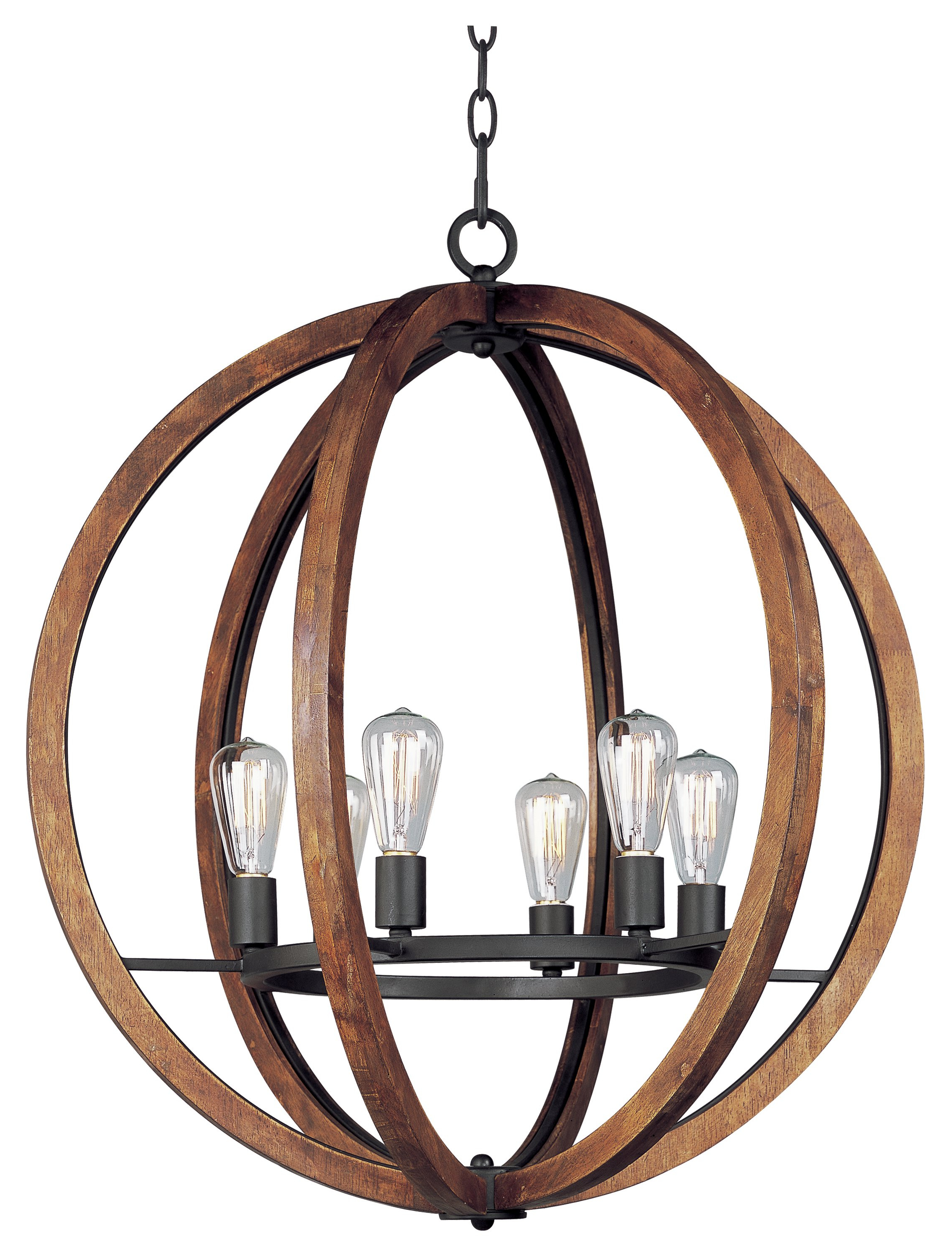 Orly 6 Light Globe Chandelier Throughout Trendy Joon 6 Light Globe Chandeliers (View 5 of 20)