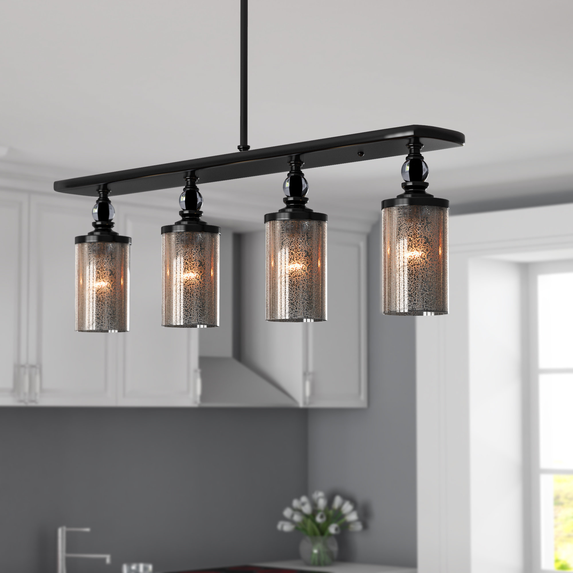 Orndorff 4 Light Kitchen Island Pendant Regarding Preferred Smithville 4 Light Kitchen Island Pendants (View 12 of 20)