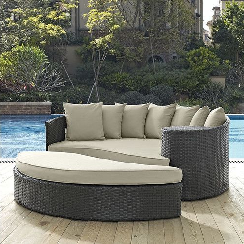 Outdoor Daybed In Fashionable Keiran Patio Daybeds With Cushions (View 14 of 20)