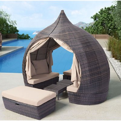 Outdoor Pertaining To Greening Outdoor Daybeds With Ottoman & Cushions (View 16 of 20)